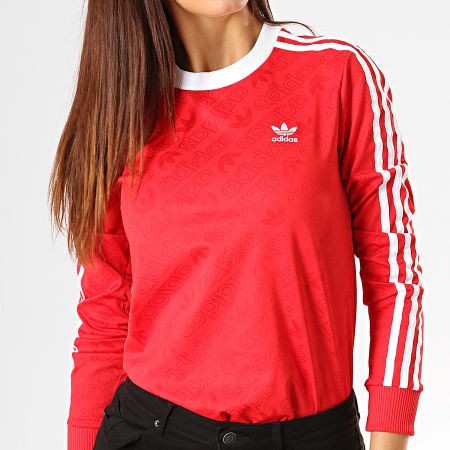t shirt manche long de survetement adidas chelsea rose