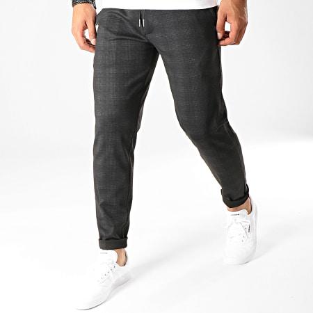Celio - Pantalon A Carreaux Poaby 2 Gris Anthracite