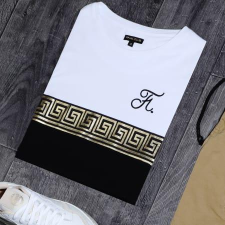 Final Club - Tee Shirt Renaissance Avec Broderie 244 Noir Blanc Doré