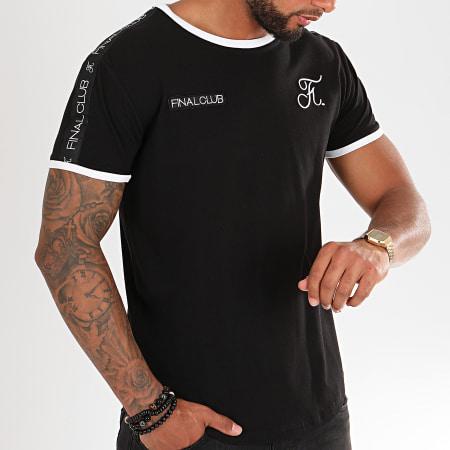 Final Club - Tee Shirt Oversize Avec Bandes Et Broderies 295 Noir