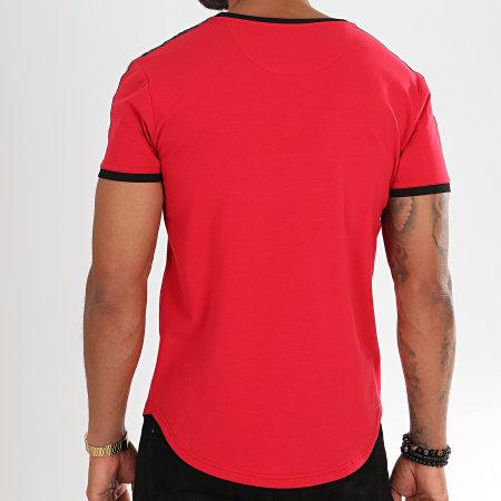 Final Club - Tee Shirt Oversize Avec Bandes Et Broderies 312 Rouge