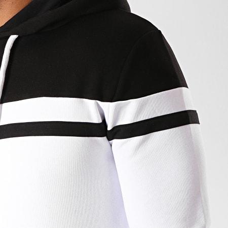 LBO - Sweat Capuche Bicolore 920 Blanc Noir