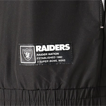 New Era - Coupe-Vent Col Zippé Capuche NFL Colour Block Oakland Raiders 12033397 Noir Blanc
