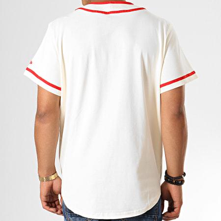 New Era - Tee Shirt De Baseball Chicago Bulls NBA Piping Button Up 12033452 Ecru