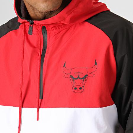 New Era - Coupe-Vent Col Zippé Capuche NBA Chicago Bulls 12033459 Noir Rouge Blanc