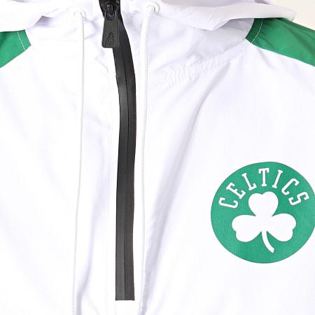 New Era - Coupe-Vent Col Zippé Capuche NBA Boston Celtics 12033460 Blanc Noir Vert