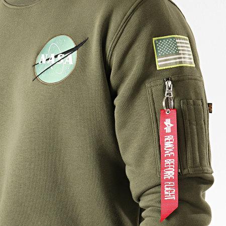 Alpha Industries - Sweat Crewneck Poche Bomber NASA Space Shuttle Vert Kaki