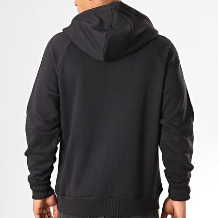 Calvin Klein - Sweat Zippé Capuche A Bandes Monogram 3211 Noir