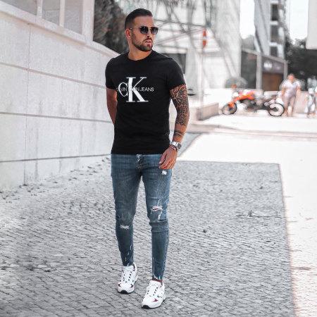 Calvin Klein - Tee Shirt Monogram 4314 Noir