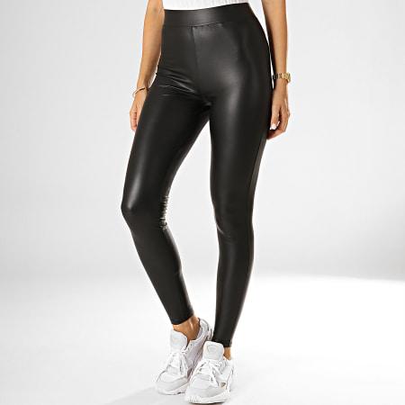 Only - Legging Enduit Femme Cool Noir