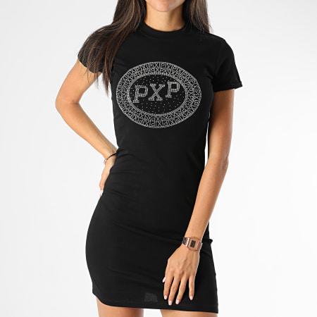 Project X - Robe Femme A Strass F197030 Noir