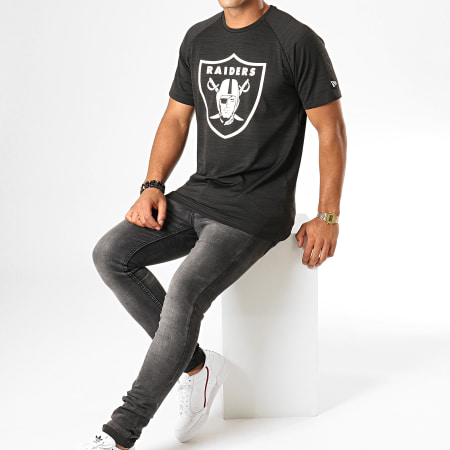 New Era - Tee Shirt NFL Engineered Raglan Oakland Raiders 12033382 Noir
