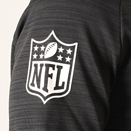 New Era - Sweat Col Zippé Capuche NFL Engineered Oakland Raiders 12033393 Noir Chiné