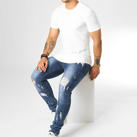 Uniplay - Tee Shirt Oversize UY439 Blanc Cassé