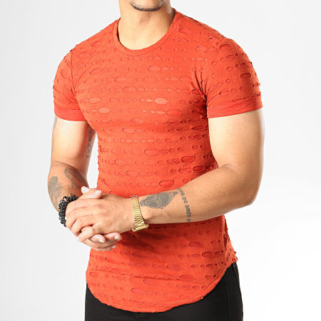 Uniplay - Tee Shirt Oversize UY449 Rouge Brique