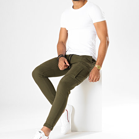 Uniplay - Pantalon Slim PS-3 Vert Kaki