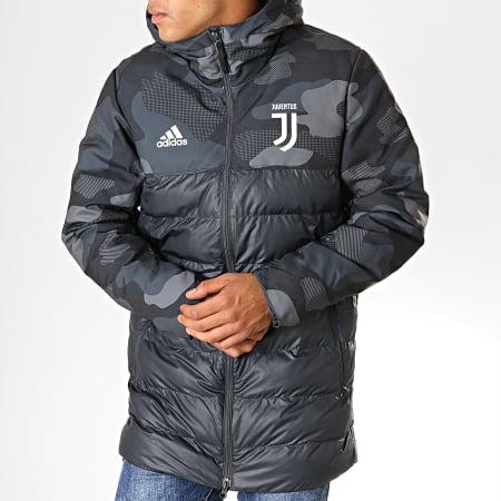adidas - Doudoune A Capuche Juventus DX9202 Gris Anthracite Camouflage