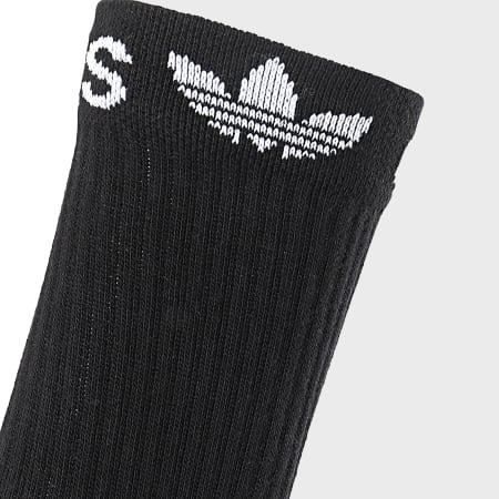 adidas - Lot De 2 Paires De Chaussettes Line Cuff Crew ED8729 Noir