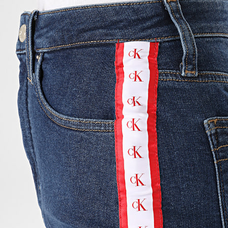Calvin Klein Jeans - Jupe Jean Femme Avec Bandes 2562 Bleu Denim