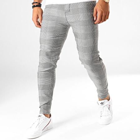 Frilivin - Pantalon Carreaux 1624 Blanc Noir