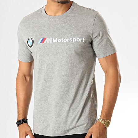 Puma - Tee Shirt BMW Motorsport Logo 595369 Gris Chiné