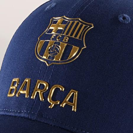 Barcelone FC - Casquette Big Logo Bleu Roi Or