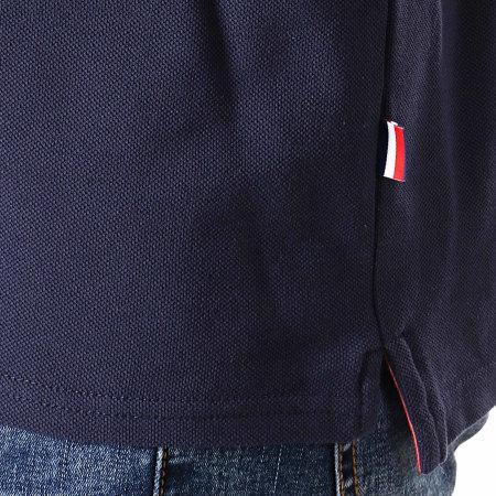 FFF - Polo Manches Courtes Fan F19012 Bleu Marine Blanc