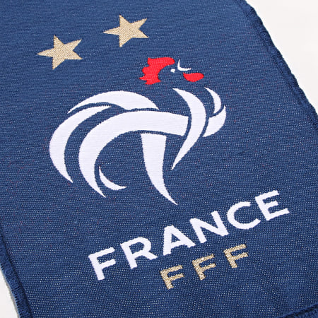 FFF - Echarpe Champions Du Monde Bleu Marine Doré
