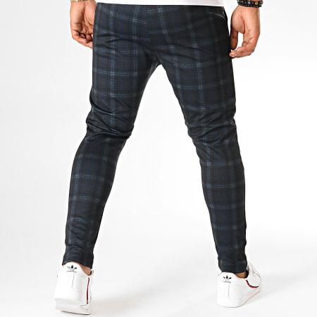 MTX - Pantalon A Carreaux TM0216 Bleu Marine Noir Marron