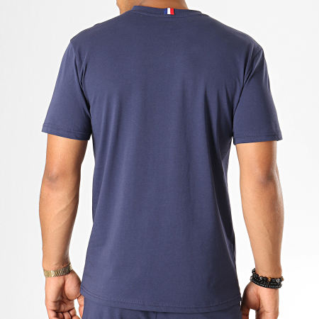 PSG - Ensemble Tee Shirt Short Jogging Pyjashort P13143C Bleu Marine