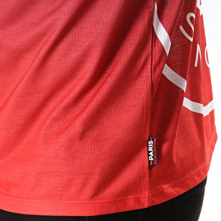 PSG - Tee Shirt Graphic Poly Logo P13049 Bleu Marine Rouge Dégradé