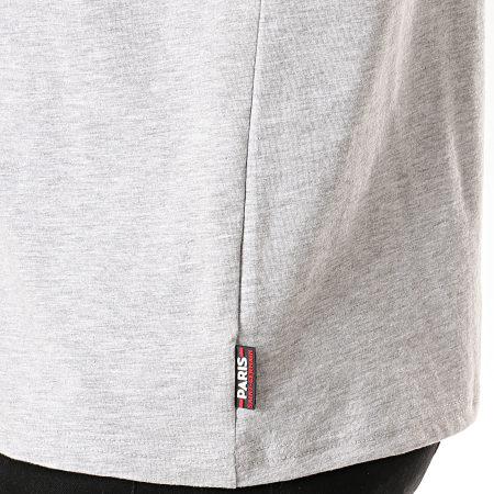 PSG - Tee Shirt Big Logo Tour Eiffel P13047 Gris Chiné