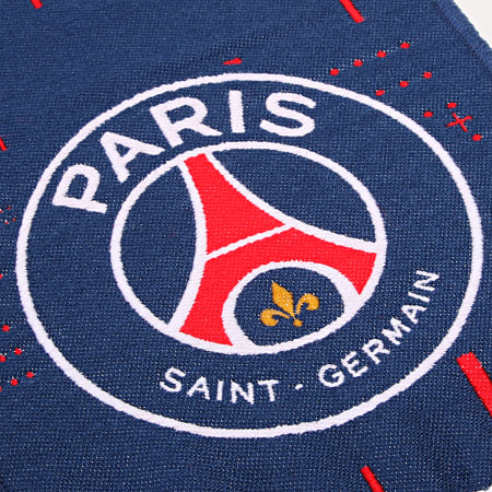 PSG - Echarpe Paris Saint-Germain All Over Bleu Marine Rouge