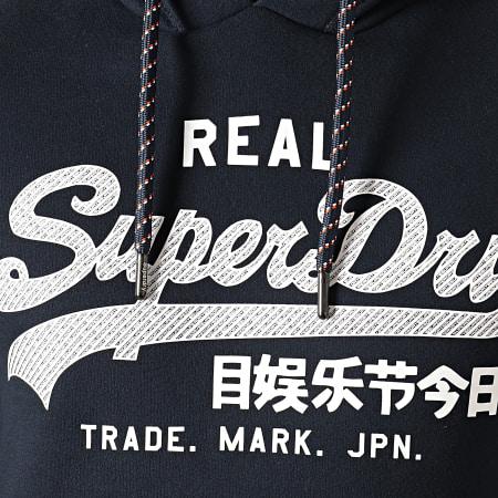 Superdry - Sweat Capuche Vintage Logo Racer M2000074A Bleu Marine Foncé