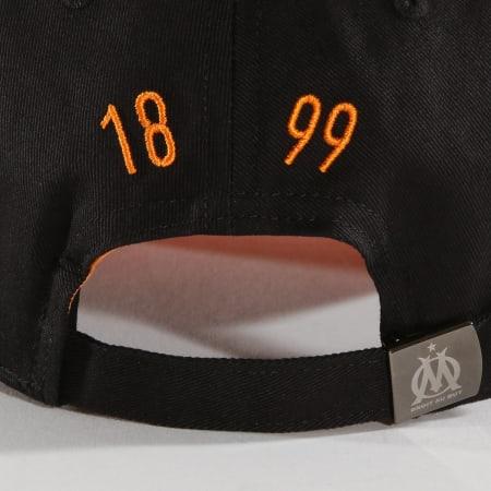 OM - Casquette Enfant OM Big Logo Noir Orange