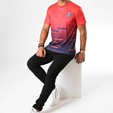 PSG - Tee Shirt Sublime Paris Saint-Germain P13051C Rouge Bleu Marine Dégradé