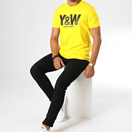 Y et W - Tee Shirt Logo Jaune Noir