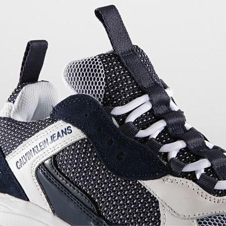 Calvin Klein - Baskets Marvin Low Top Lace Up B4S0133 White Navy