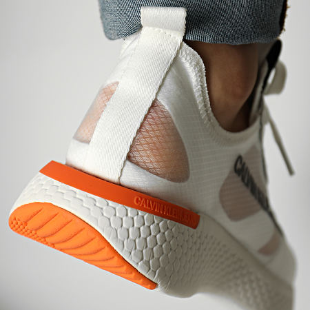 Calvin Klein - Baskets Alban Semi Transparent Nylon S0583 Bright White
