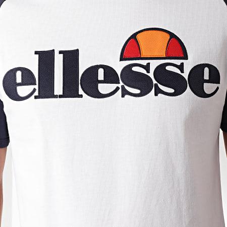 Ellesse - Tee Shirt Piave SHC07393 Blanc Bleu Marine