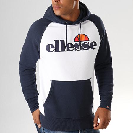 Ellesse - Sweat Capuche Taliamento Oh SHC07394 Blanc Bleu Marine