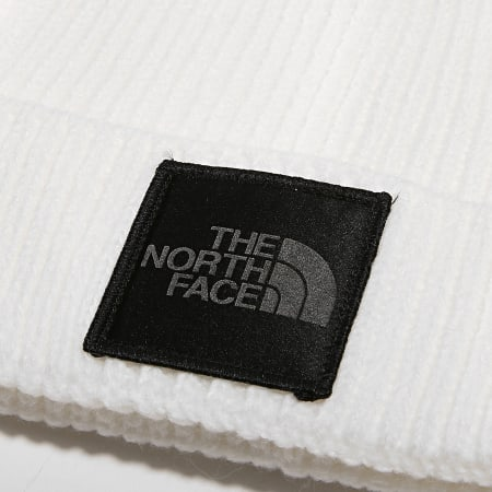 The North Face - Bonnet TNF Logo Box Cuf Blanc