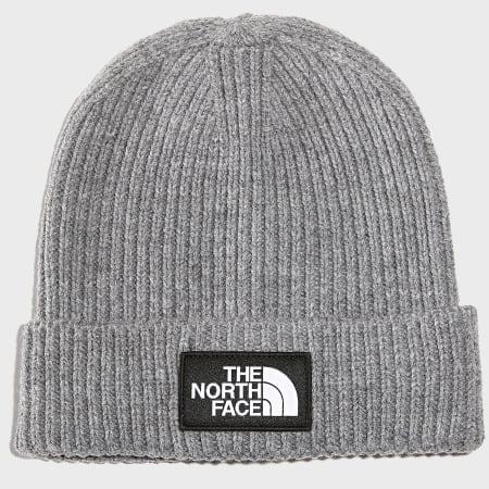 The North Face - Bonnet TNF Logo Box Cuf Gris Chiné