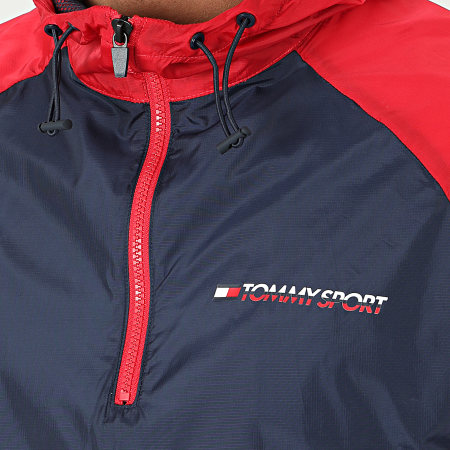 Tommy Sport - Coupe-Vent Woven With Tape 0234 Rouge Bleu Marine Blanc
