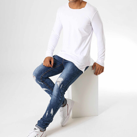 Ikao - Tee Shirt Oversize A Manches Longues F619 Blanc