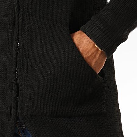 Ikao - Cardigan Oversize A Capuche F591 Noir