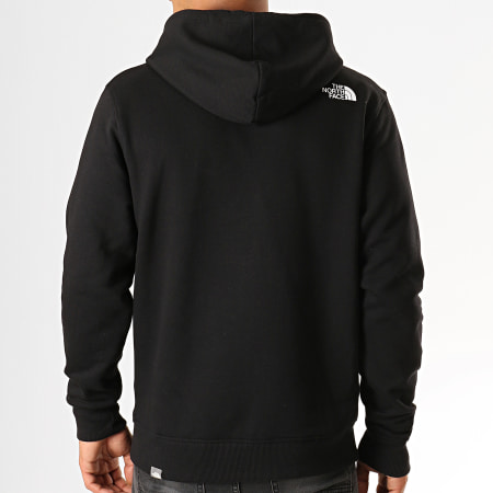 The North Face - Sweat Zippé Capuche Open Gate CG46 Noir Blanc