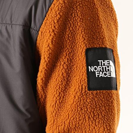 The North Face - Veste Zippée Polaire Denali Fleece 381M Gris Anthracite Marron