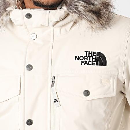 The North Face - Parka Fourrure Gotham A8Q4 Blanc Cassé