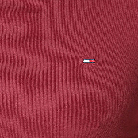 Tommy Hilfiger Jeans - Tee Shirt Manches Longues RIB 5089 Bordeaux